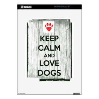 Keep Calm & Love Dogs iPad 2 Skins