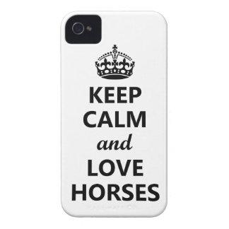 Keep Calm & Love Horses iPhone 4 Case