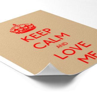 Keep Calm Love ME Value Poster Paper (Matte)