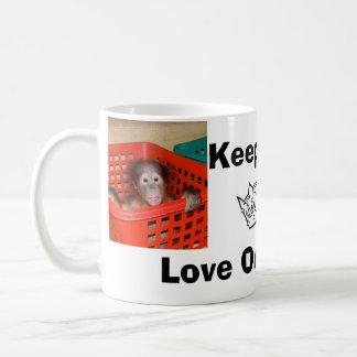 Keep Calm Love Orangutans Coffee Mug