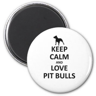 Keep calm love pit Bulls Refrigerator Magnets