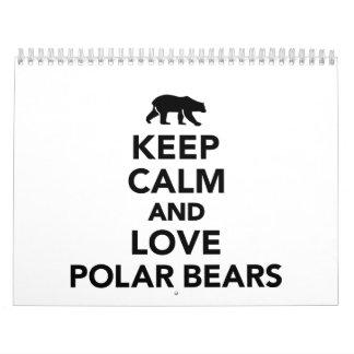 Keep calm love Polar Bears Calendar