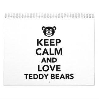 Keep calm love Teddy Bears Wall Calendars
