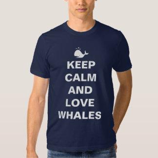 Keep calm love whales tshirts