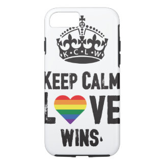 Keep calm love wins. iPhone 7 case