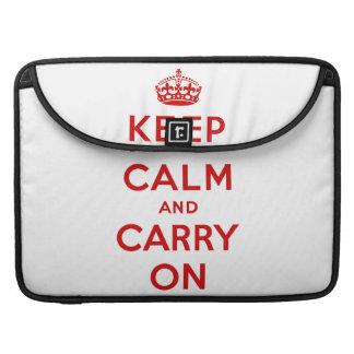 Keep Calm Macbook Pro Flap Sleeve