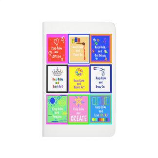 Keep Calm - Make Art  Pocket Journal   v2