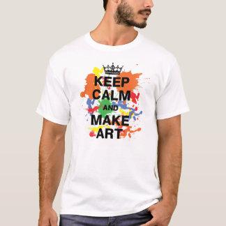Keep Calm & Make Art Shirt