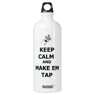 keep calm make em tap aluminum water bottle