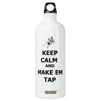 keep calm make em tap SIGG traveler 1.0L water bottle