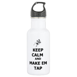 keep calm make em tap stainless steel water bottle