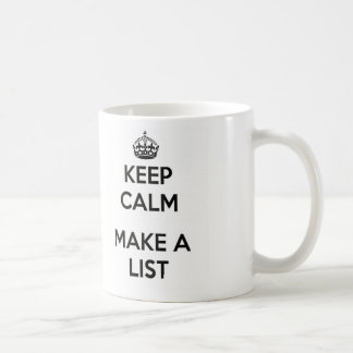 Keep Calm Make List Mug