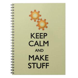 Keep Calm Make Stuff Spiral Notebook