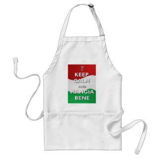 Keep Calm Mangia Bene Italy Apron