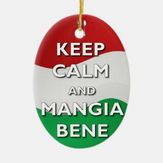 Keep Calm Mangia Bene Italy Ornament