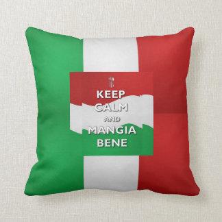 Keep Calm Mangia Bene Italy Pillow