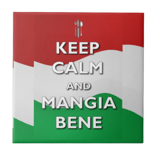 Keep Calm Mangia Bene Italy Tile or Trivet
