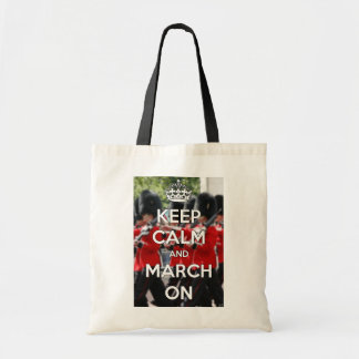 Keep Calm & March On Budget Tote Bag