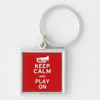 Keep Calm - Marching Baritone Keychain