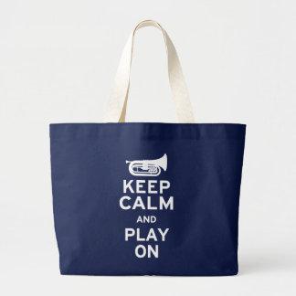 Keep Calm - Marching Baritone Large Tote Bag