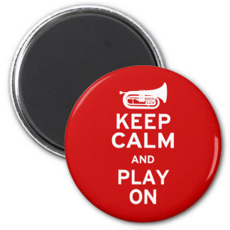 Keep Calm - Marching Baritone 2 Inch Round Magnet