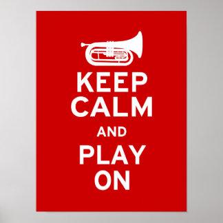 Keep Calm - Marching Baritone Poster