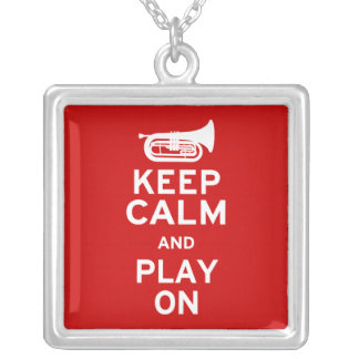 Keep Calm - Marching Baritone Silver Plated Necklace