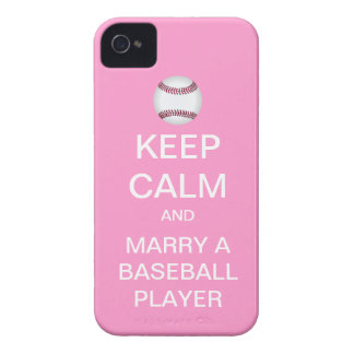 KEEP CALM Marry A Baseball Player iPhone Case Case-Mate iPhone 4 Case