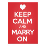Keep Calm Marry On Save The Date Invitation