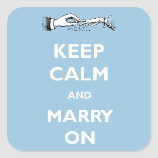 Keep Calm Marry On Wedding Stickers