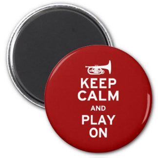 Keep Calm Mellophone 2 Inch Round Magnet