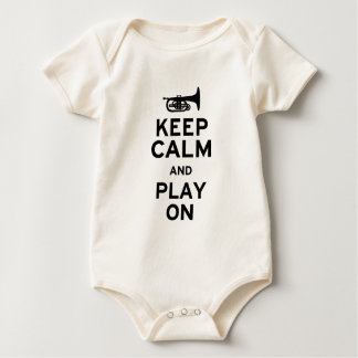 Keep Calm Mellophone Baby Bodysuit