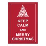 Keep Calm Merry Christmas Holiday Greetings Card