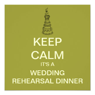 KEEP CALM Mod Rehearsal Dinner Invitation (Square)