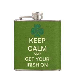 KEEP CALM Mod St. Patrick's Day Flask