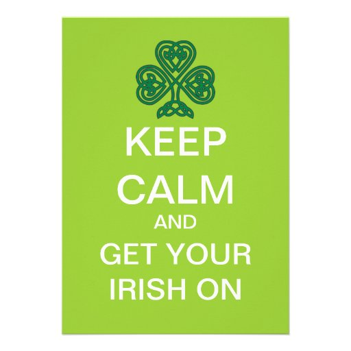 KEEP CALM Mod St. Patrick's Day Party Invitation