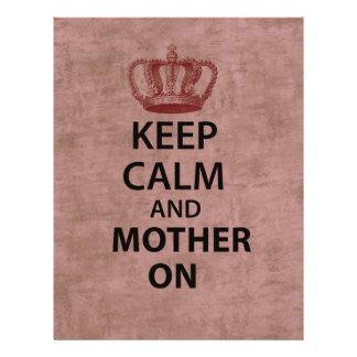 "Keep Calm & Mother On 8.5"" X 11"" Flyer"