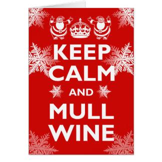 Keep Calm & Mull Wine Card