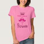 Keep Calm & Mustache Like a Princess T Shirts