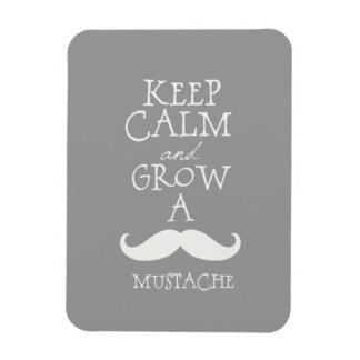 Keep Calm Mustache Magnet