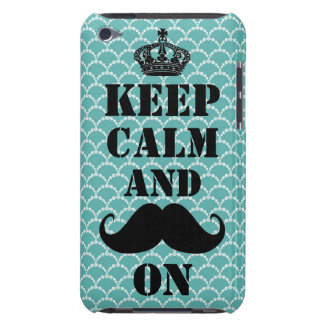 Keep Calm Mustache On Barely There iPod Cover