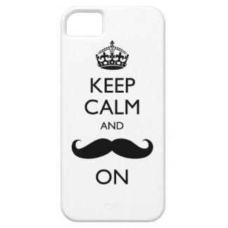 Keep Calm Mustache On iPhone 5 Case-Mate Barely iPhone SE/5/5s Case
