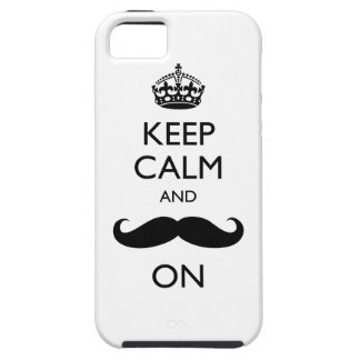 Keep Calm Mustache On iPhone 5 Case-Mate Vibe™ iPhone SE/5/5s Case