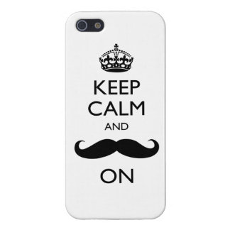 Keep Calm Mustache On iPhone 5 Case Savvy Glossy
