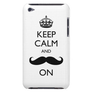 Keep Calm Mustache On iPod Touch Case-Mate Barely iPod Case-Mate Case