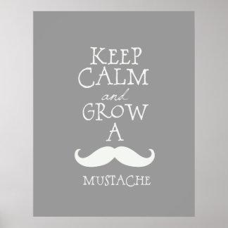 Keep Calm Mustache Poster