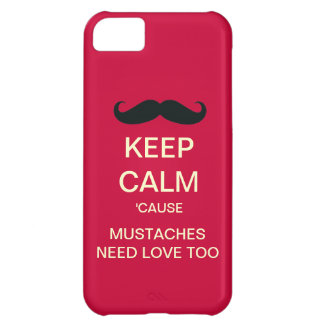 Keep Calm Mustaches Need Love iPhone 5 Case