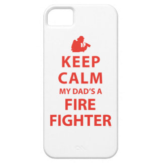 KEEP CALM MY DAD'S A FIREFIGHTER iPhone 5 COVER
