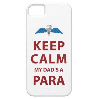 KEEP CALM MY DAD'S  A PARA iPhone 5 CASES