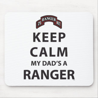 KEEP CALM MY DAD'S A RANGER MOUSE PAD
